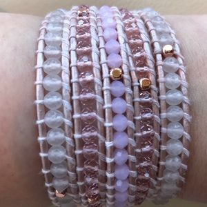Victoria Emerson crystal and leather wrap